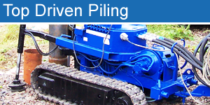 top driven piling